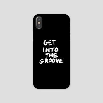Get Into The Groove, Phone Case, Black
