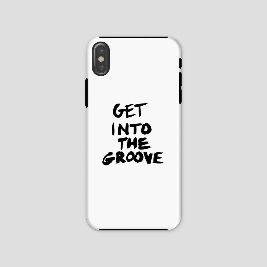 Get Into The Groove, Phone Case, White