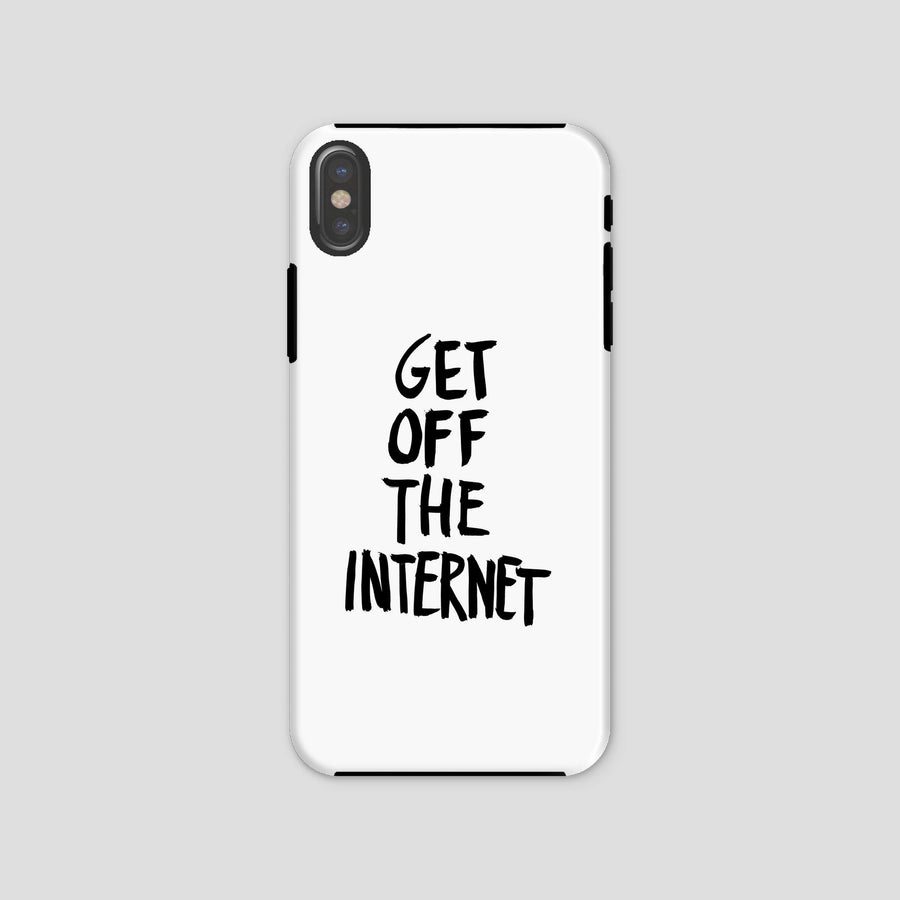 Get Off The Internet, Phone Case, White
