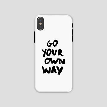 Go Your Own Way, Phone Case, White