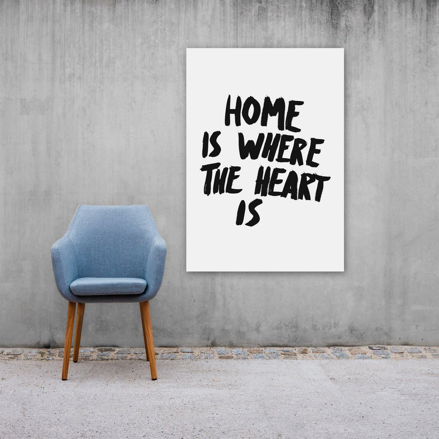 Home Is Where The Heart Is, Poster, White - Pop Music Wisdom