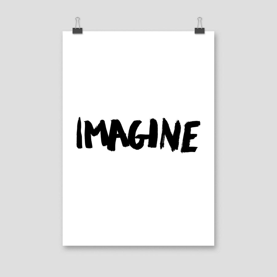 Imagine, Poster, White - Pop Music Wisdom