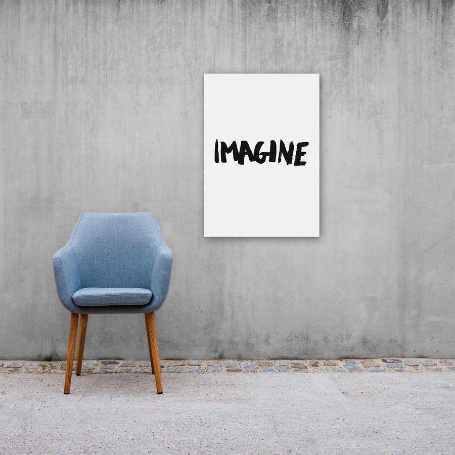 Imagine, Poster, White