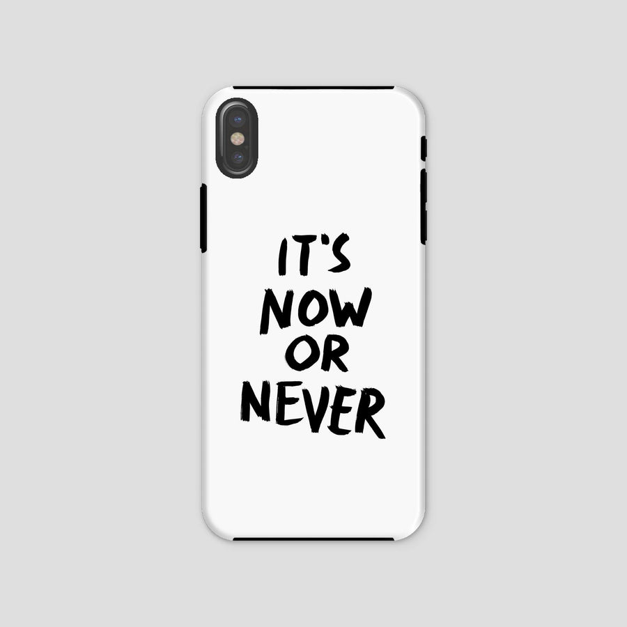 It's Now Or Never, Phone Case, White