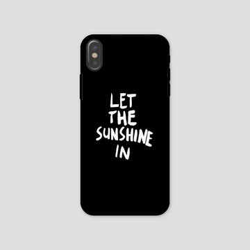 Let The Sunshine In, Phone Case, Black