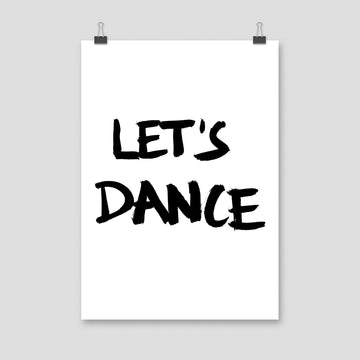 Let's Dance, Poster, White