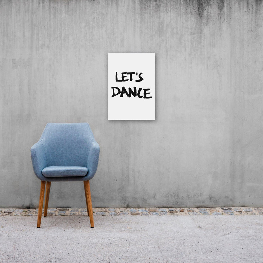 Let's Dance, Poster, White - Pop Music Wisdom