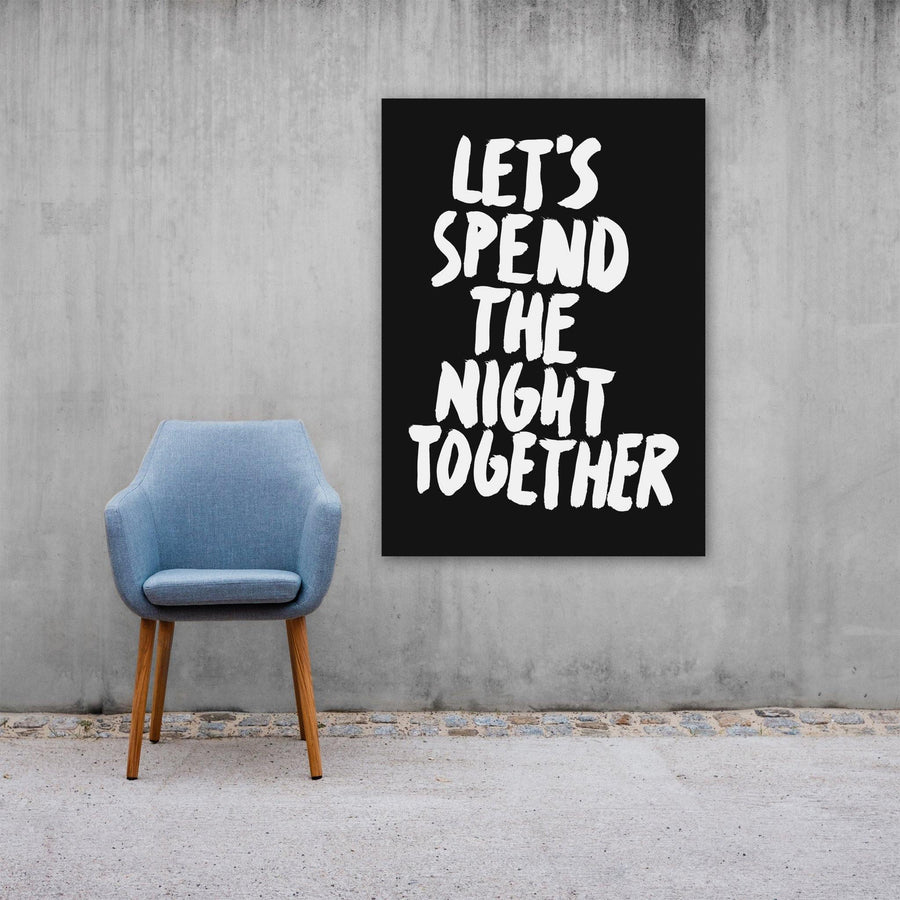 Let's Spend The Night Together, Poster, Black