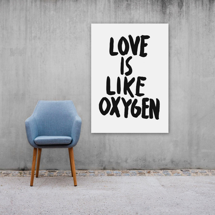 Love Is Liken Oxygen, Poster, White