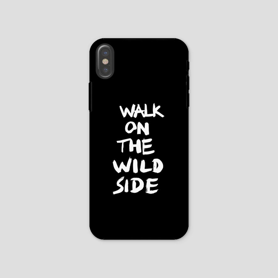 Walk On The Wild Side, Phone Case, Black