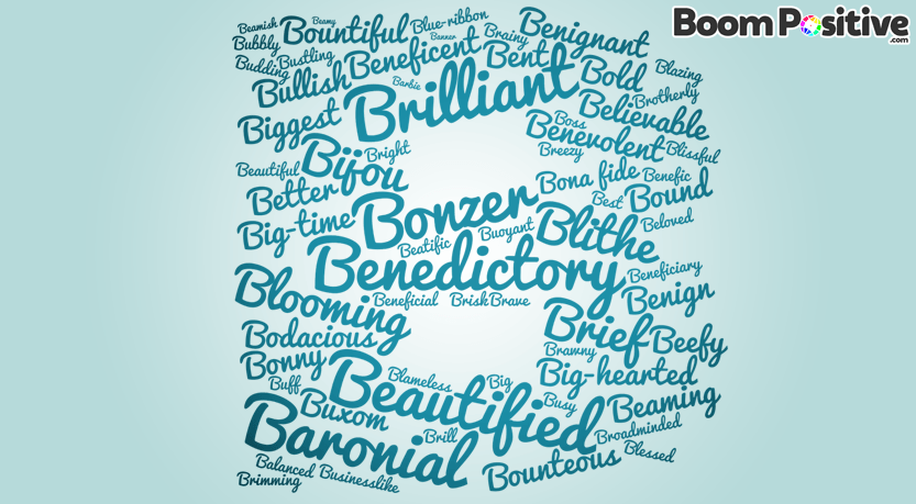 Adjectives With Letter B.Positive Adjectives That Start With B Bold Words