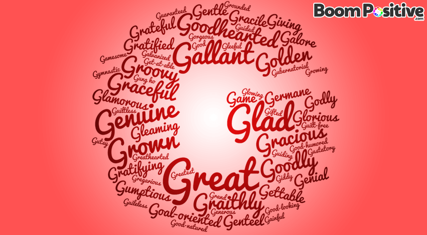 Positive Adjectives That Start With G Good Words Boom Positive