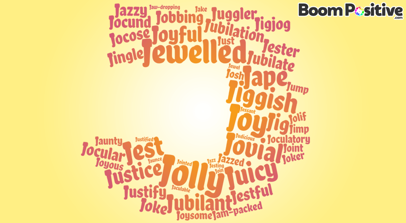 "Positive adjectives that start with J ""joyful words"""