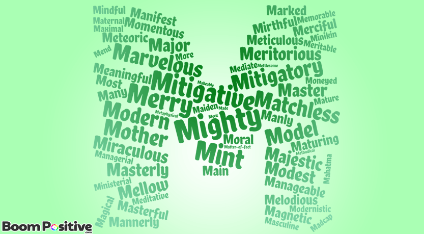adjectives that start with m to describe a person positively positive adjectives that start with m quot magical words 29967 | positive adjectives that start with m word cloud