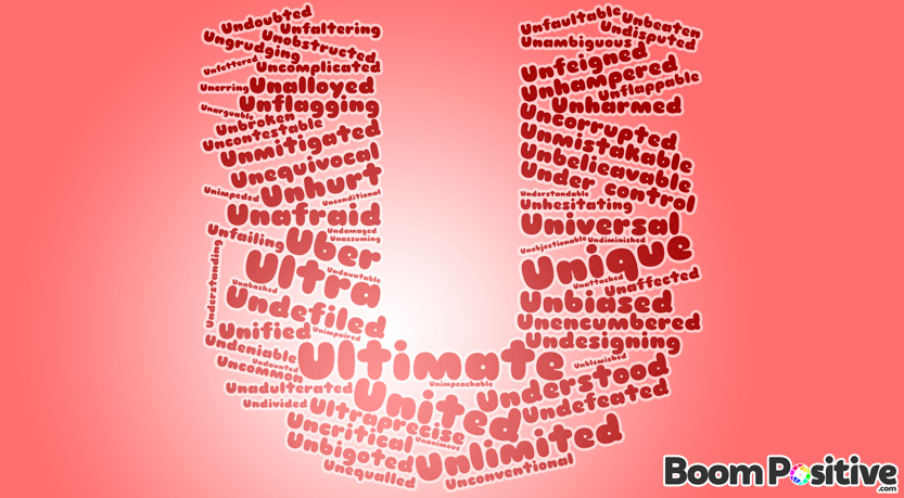 "Positive adjectives that start with U ""uplifting words"""