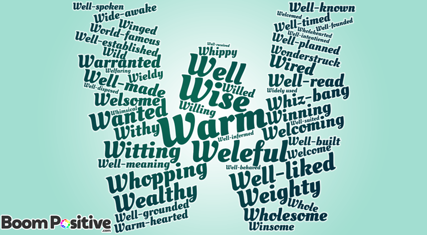 "Positive adjectives that start with W ""warm words"""