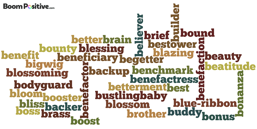 Positive nouns that start with B