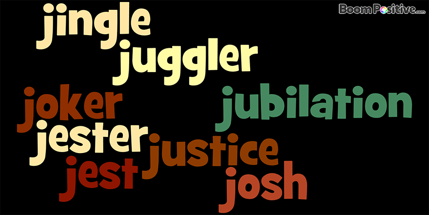 "Positive nouns that start with J ""Letter J naming Words"""