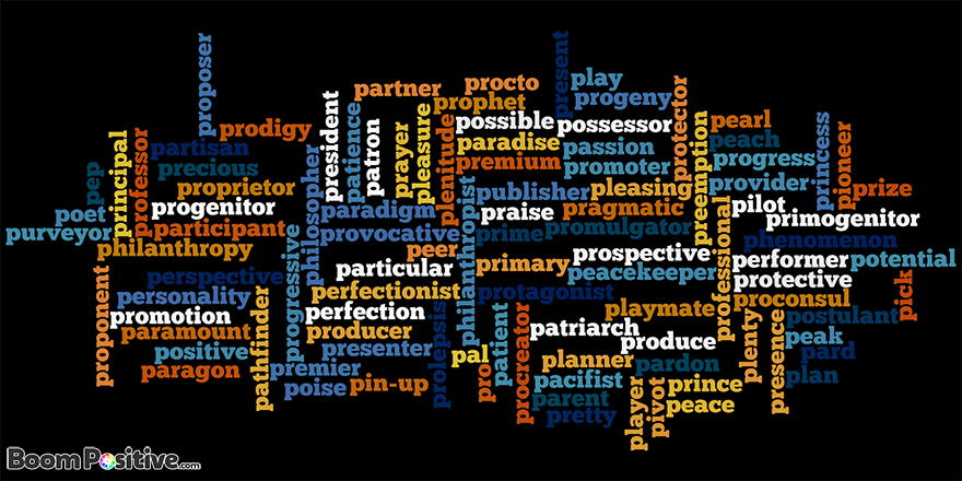"""Positive nouns that start with P """"letter p naming words"""" – Boom Positive"""