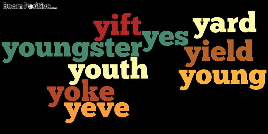 "Positive nouns that start with Y ""Letter Y naming Words"""