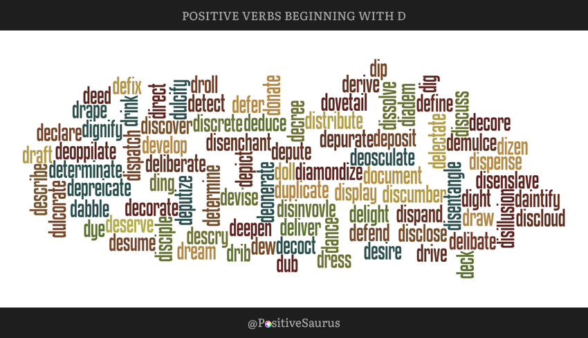 Positive Verbs That Start With D Letter D Action Words