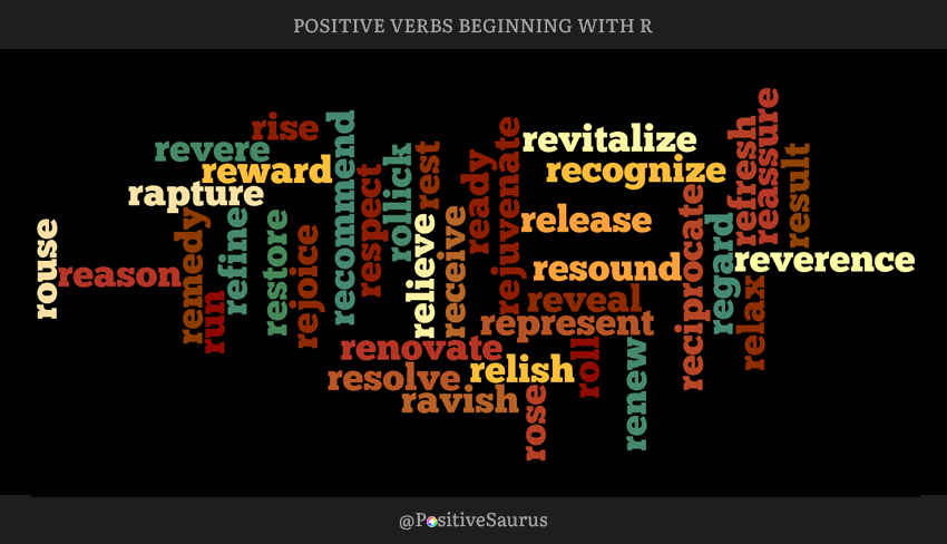 Positive verbs that start with R