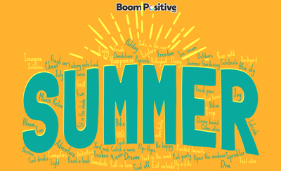"Summer words vocabulary ""that radiates positive energy & warmth"""