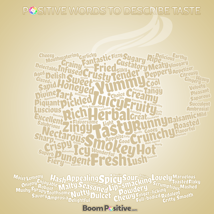 food words vocabulary to describe taste