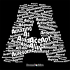 letter a word cloud t-shirt