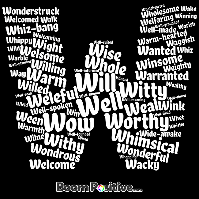 letter w word cloud