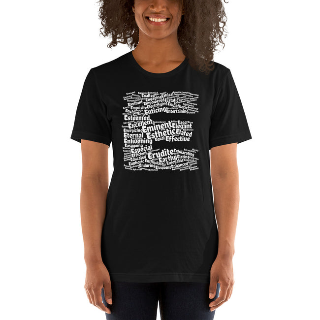 Positive E words t-shirt | unisex