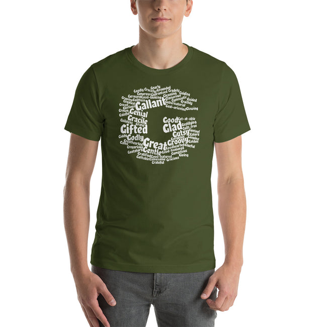 letter g word cloud t-shirt