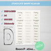 printable positive words with d