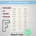 printable positive words with f