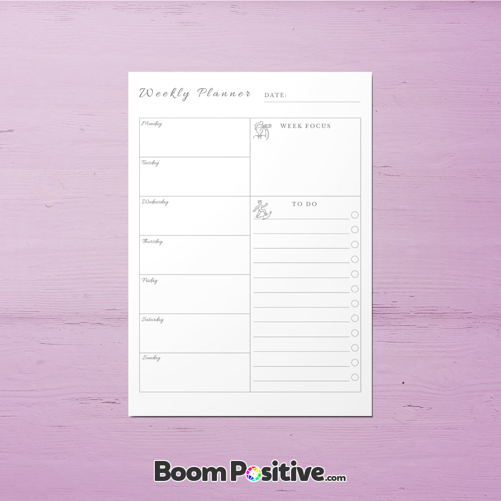 This is a picture of Weekly to Do List Printable inside eliza ellis