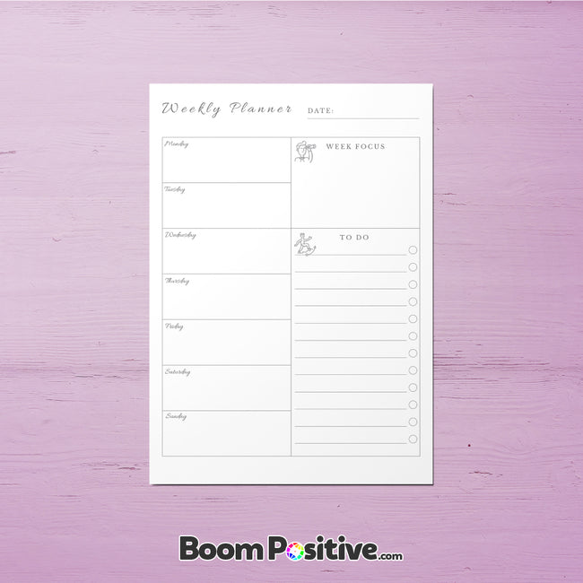 printable to do list weekly planner