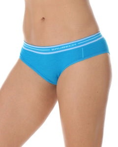 Women's Bottom Active Wool Hipster Briefs Light Blue Front