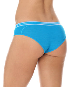 Women's Bottom ACTIVE WOOL Hipster Briefs Light Blue Back