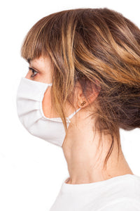 Woman wearing protective face mask