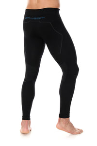 Men's Bottoms Thermo Long Pants Black Back