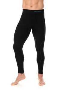 Men's Bottoms Thermo Long Pants Black Front