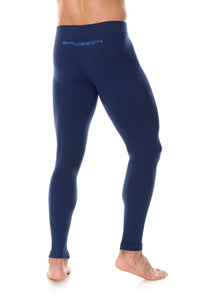 Men's Bottoms Thermo Long Pants Navy Blue Back