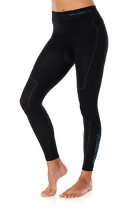 Women's Bottom THERMO Long Pants Black Front