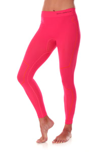 Women's Bottom THERMO Long Pants Raspberry Front