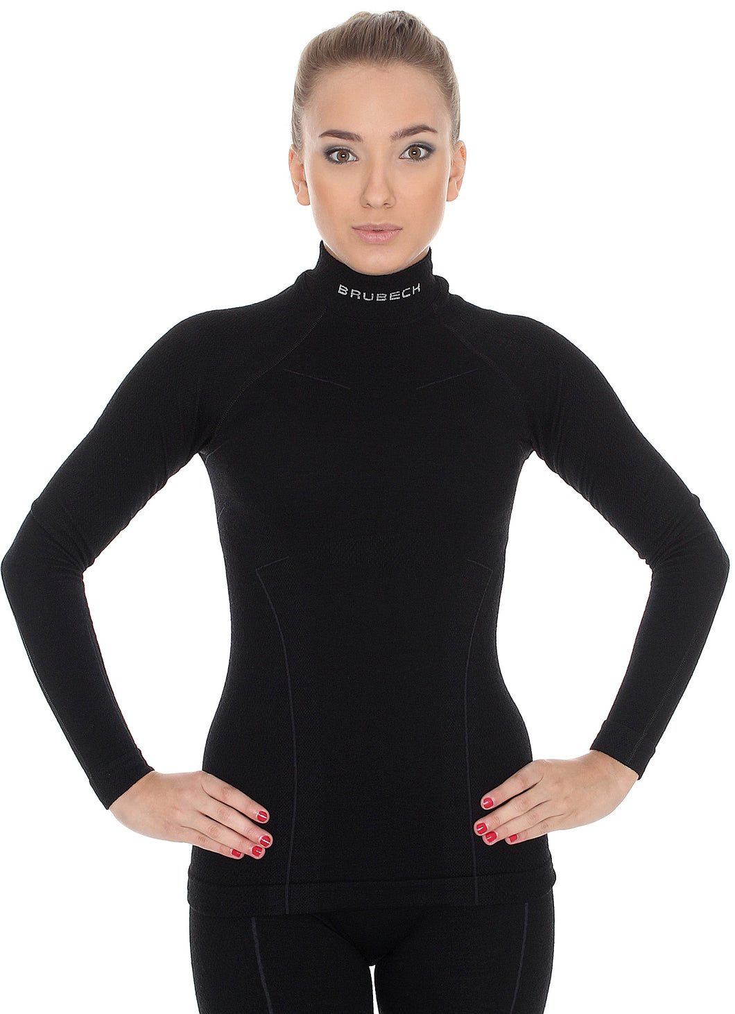 Women's Top EXTREME WOOL Long Sleeve Black Front