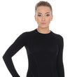 Load image into Gallery viewer, Women's Top ACTIVE WOOL Long Sleeve Black