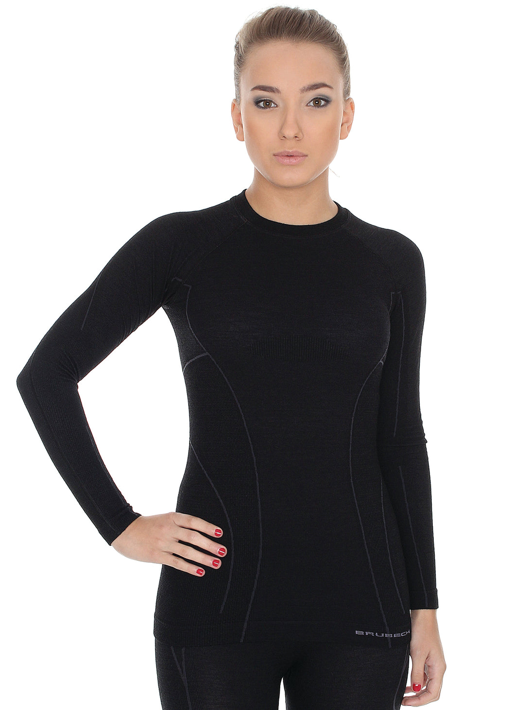 Women's Top ACTIVE WOOL Long Sleeve Black