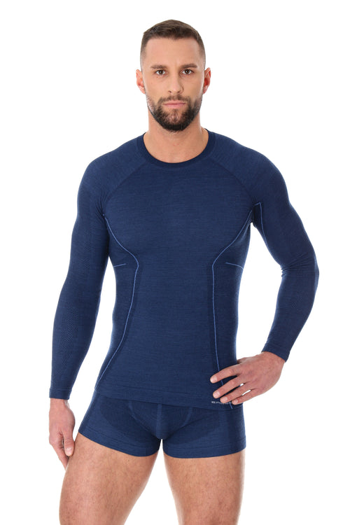 Men's Top ACTIVE WOOL Long Sleeve Dark Blue