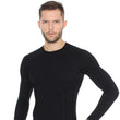 Load image into Gallery viewer, Men's Top ACTIVE WOOL Long Sleeve Black