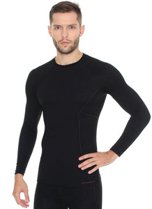 Men's Top ACTIVE WOOL Long Sleeve Black